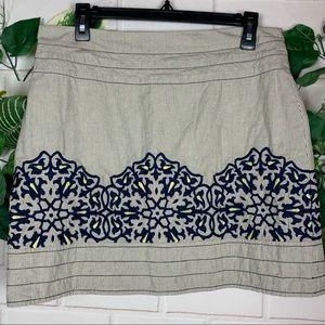 Floreat Anthropologie women's striped skirt size 6